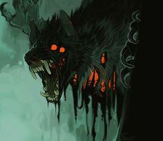 Color Illustrations on Werewolf-Horror - DeviantArt Monster Design, Monster Art, Monster Concept Art, Creature Concept Art, Creature Design, Dark Fantasy Art, Dark Art, Arte Obscura, Mythical Creatures Art