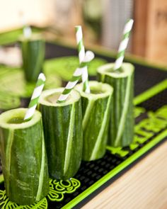 Cucumber cups are cool for cocktails #patron #patrontequila #entertaining #parties