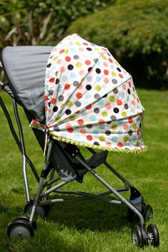Adjustable add on stroller canopy & notions u0026 threads: Make your own Stroller Sun Shade! | Baby ...