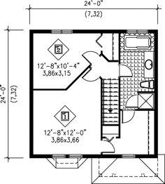 Victorian Style House Plan - 2 Beds 1.50 Baths 1152 Sq/Ft Plan #25-2002 Floor Plan - Upper Floor Plan - Houseplans.com