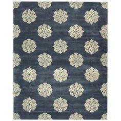 Soho Blue Wool & Viscose Rug