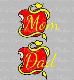 Mom and Dad Descendants Logo SVG, Studio, EPS, and JPEG Digital Downlo – Magikal Cuts
