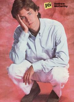 Andrew McCarthy with his gorgeous blue eyes, loved him in anything, specifically Mannequin :P Andrew Mccarthy, Brat Pack, Pin Up Posters, Actor Studio, Before Us, Music Tv, The Good Old Days, Childhood Memories, Growing Up