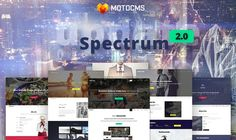 Spectrum 2.0: New Update for Top MotoCMS Flagship Template http://itz-my.com
