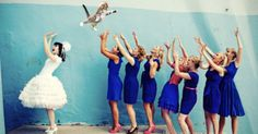 """""""Brides Throwing Cats"""", because bouquets are sooo yesterday"""