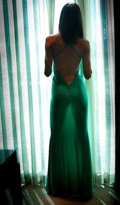 Beautiful Exotic Woman: Inspiration Green see through Dress