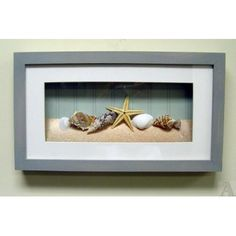 art in a box | Shell Seashell Starfish Fish Bathroom Room Shadow Box Wall Art