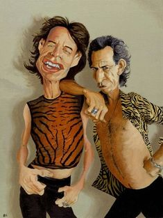Dan Springer Studio - Mick Jagger and Keith Richards Mick Jagger Quotes, Mick Jagger Wife, Mick Jagger Dancing, Mick Jagger Girlfriend, Mick Jagger Young, Funny Caricatures, Celebrity Caricatures, Keith Richards, Mick Jagger Children