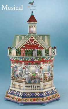 Jim Shore Revolving Carousel Lighted Musical