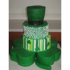 St. Patrick's Day Wedding Cake — St. Patrick's Day ❤ liked on Polyvore featuring food and cake