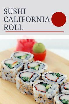 La clave del California Roll Sushi esta en la manera de ... California Roll Sushi, Sushi Recipes, Asian Recipes, Cooking Recipes, Healthy Menu, Healthy Recipes, Making Sushi Rolls, Sushi Comida, Salads