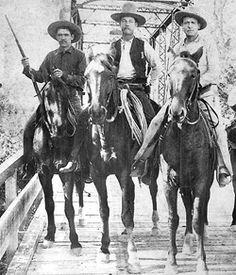 Three Texas Rangers circa 1892. Texas Ranger Hall of Fame and Museum.