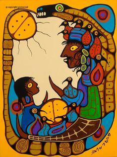 "Norval Morrisseau, Ojibwe o Canada: ""The Legend Becomes Real for the Child"" kK Native American Artists, Canadian Artists, Art Inuit, Maria Emilia, Kunst Der Aborigines, Native Canadian, Woodland Art, Ap Art, Indigenous Art"