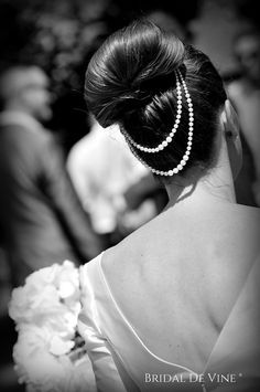 Sabrina Double Backdrape Hair Comb A pretty simple hair piece. I have used a mix of Ivory or white glass pearls and seed beads and wired onto…