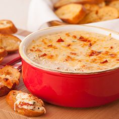 White Pizza Dip 1 envelope Lipton® Recipe Secrets® Savory Herb with Garlic Soup Mix • 1 container (16 oz.) sour cream • 1 cup ricotta cheese • 1 cup shredded mozzarella cheese • 1/4 cup chopped pepperoni (about 1 oz.) chopped • 1 loaf Italian bread [or French bread]