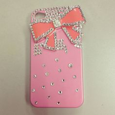 iphone 4s pink crystal case