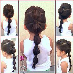 Coiffurestendances Styles coiffure mode femmes is part of braids - Styles coiffure mode femmes Little Girl Hairdos, Girls Hairdos, Lil Girl Hairstyles, Princess Hairstyles, Pretty Hairstyles, Teenage Hairstyles, Toddler Hairstyles, Hairstyles Videos, School Hairstyles
