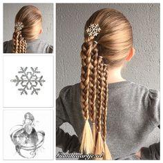 Four ponytails with a Frozen hairclip from Goudhaartje.nl        Inspired by: @jane_haircraft (instagram) #ponytail #ponytails #hair #hairstyle #hairideas #hairinspiration #longhair #haar #haarstijl #vlecht #vlechten #haarclip #haarelastiek #hairelastics #haaraccessoires #braid #braids #hairstyle #hairideas #hairinspiration #longhair #haar #haarstijl #vlecht #vlechten #haarclip #haarelastiek #hairelastics #haaraccessoires #braid #braids #hairstylesforgirls #hairclip #frozen #hairaccessories…