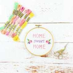This mini kit includes all the stuff you need to make this cute cross stitch! Including pattern, 5 inch Hoop, 14 count aida material in white, needle, thread, instructions plus mini pom pom trim ( not currently pictured) to finish off your hoop Kits come with a personalised sticker, so please advise if this is a gift & you want the name on the box to read different that the person paying! Everything comes nicely wrapped in tissue paper with a few sweet treats added for you to enjoy!  All ...