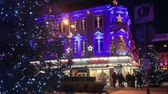 Krahnstraße  Weihnachtliches Osnabrück am 26.12.2013 in der Nacht