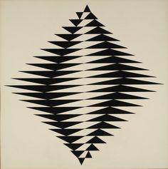 un: (via cidadecitycite) Rubem Ludolf - Sem título, guache sobre papel, 1958 (71 X 71 cm)