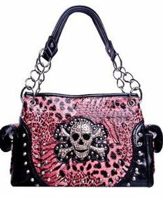 Amazon.com: Skull & Cross Bones Zebra Leopard Print Chain Handle Satchel Purse Pink (pink): Clothing on Wanelo Pink Outfits, Satchel Purse, White Fashion, Pink Tops, Purses And Handbags, Fashion Bags, Me Too Shoes, Shoulder Bag, Chain