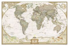 World map vintage old style poster print size24x36 inches free gigante gumiabroncs Gallery
