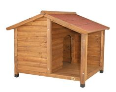 $415.74-$499.99 Natura Rustic Dog House (large) - Give your pet a place to escape the elements with TRIXIE's large wooden Natura Rustic Dog House with a covered porch. Our solid pine construction and use of the finest materials mean this shelter will endure years of use with very little maintenance.  It's covered porch and off-center design also provide additional protection from wind and rain.   ...