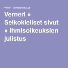 Verneri » Selkokieliset sivut » Ihmisoikeuksien julistus