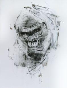Carboncillo y acrílico sobre papel, 65x50 cm. Antonio Mora, Artwork, Paper Envelopes, Artists, Work Of Art, Auguste Rodin Artwork, Artworks, Illustrators