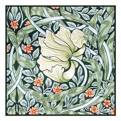 Pimpernel by Arts and Crafts Movement Founder William Morris Counted Cross Stitch or Counted Needlepoint Pattern