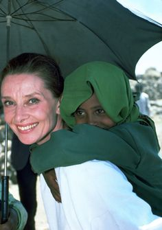 John Isaac, a UNICEF photographer, took this photo during Audrey's first field mission to Ethiopia, in 1988.