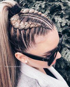 44 Ideas de Peinados Juveniles que te Encantarán By Diyanu hairmakeup 389068855309287777 Braids With Curls, Cool Braids, Braids For Long Hair, French Braid Hairstyles, Cute Hairstyles, Dance Hairstyles, Halloween Hairstyles, Ethnic Hairstyles, Long Hairstyles