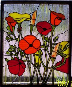 Poppies - Delphi Stained Glass
