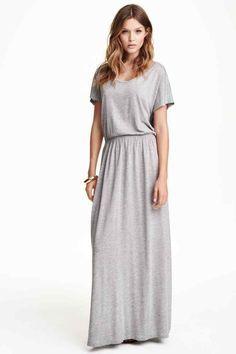 Robe longue grise h&m