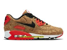 NIKE AIR MAX 90 ANNIVERSARY GS - CHAUSSURES NIKE PAS CHER POUR FEMME ENFANT  BRONZE INFRAROUGE