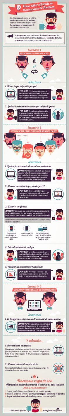 Cómo evitar el fraude en los concursos de FaceBook #infografia #infographic #socialmedia