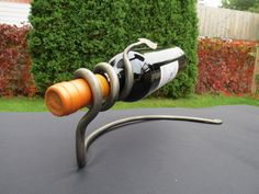 WINE RACK Hand Forged by BLACKSMITH by NazForge on Etsy