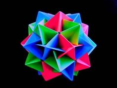 How to make an Origami Twinboat Icosahedron - YouTube