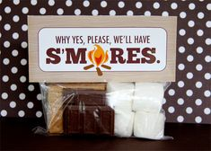 Smores-Kit - for firepits, maybe  Source: http://www.elizabethannedesigns.com/blog/page/29/