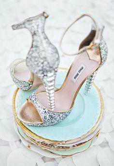 Miu Miu Silver Heels