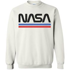 NASA Red Blue Stripe Minimal Logo Vintage T shirt Hoodie Sweater