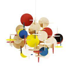 {Bau Pendant Large Multi} Normann Copenhagen - modern-retro geometric