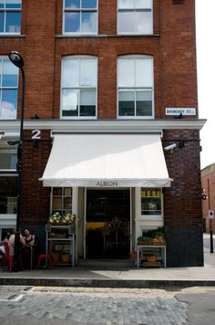 Shopgirl Visits: Albion Cafe, London by Holly (text) and Jillian (photos) http://decor8blog.com/2010/08/11/albion-cafe-london/