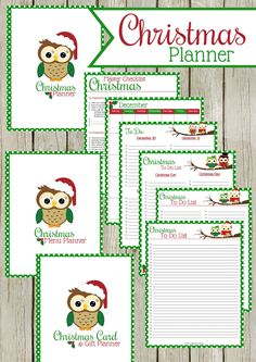 Christmas Planner, 35 pages from todos, menu planners, gift lists and more from Krafty Owl