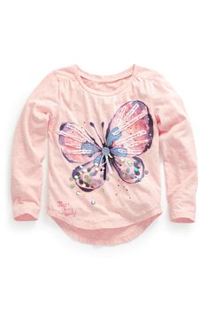 Buy Long Sleeve Butterfly Sequin Top (3-16yrs) from the Next UK online shop