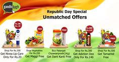 Special Offers for Special People..!! Grab these unmatched offers on this Republic Day only at gandhibagh.com Hurry up, shop now..!!  #Wholesale_Ke_Bhav_Ghar_Pe_Pao #FreeHomeDelivery #NoMinimumCartValue