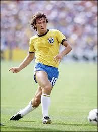 Zico in full flight. '82 Brazilian team.