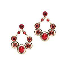Mocha Oval Chandelier Earrings Red up to 70% off   Jewelry   Little Black Bag