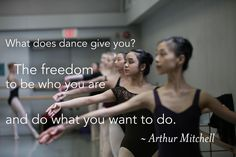 "Kirov Academy of Ballet. ""What does dance give you? The freedom to be who you are and do what you want to do."" ~ Arthur Mitchell. Photo by Paolo Galli #dance #quote #inspiration"